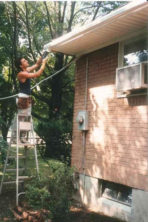 Installing A gutter System 1990