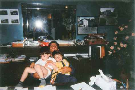 My  Home Office With Emanuele and Cristian 1999