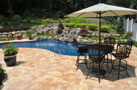 Gold travertine paving stones Long island NY