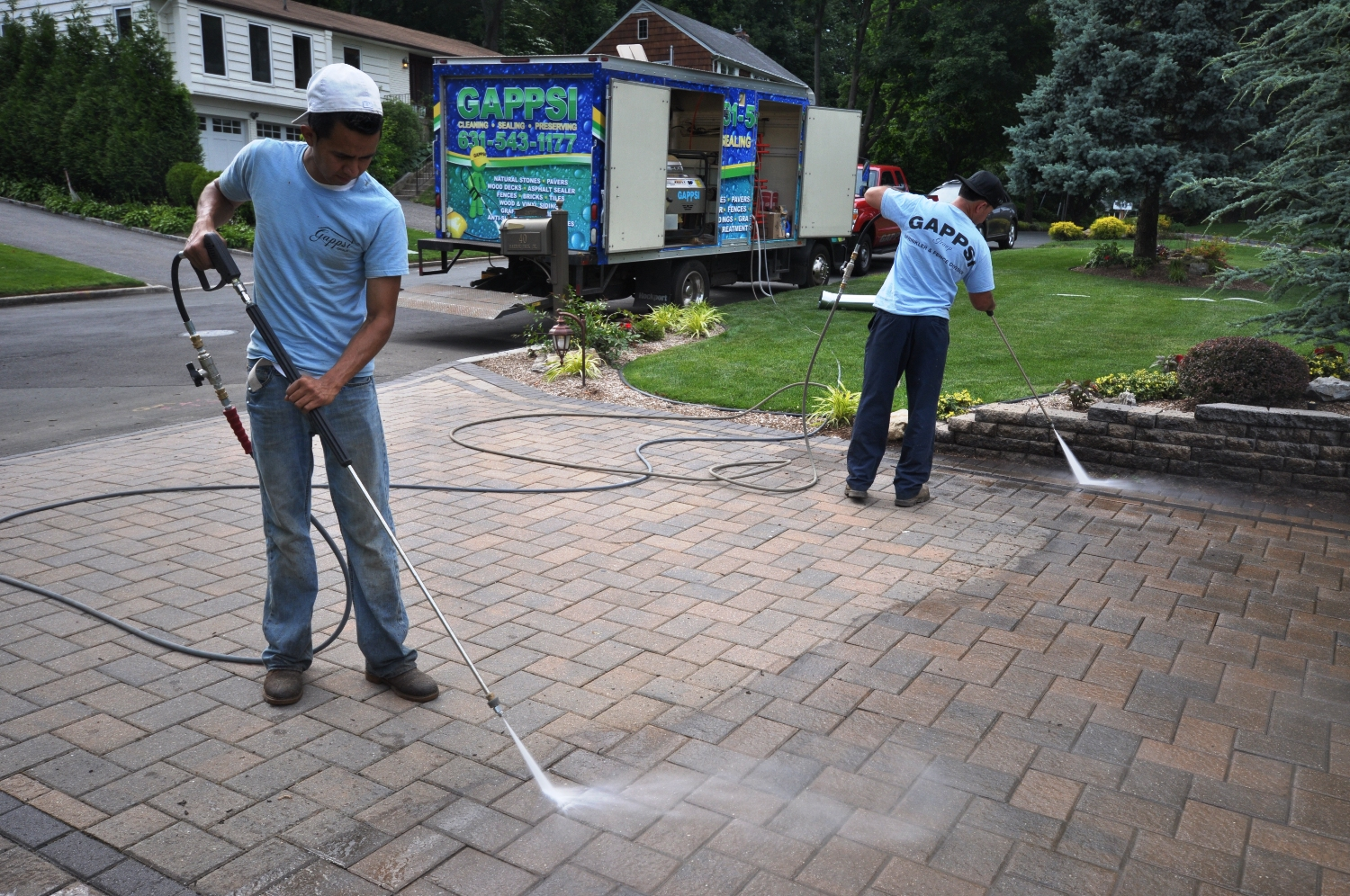 Stones cleaning and sealing gappsi giuseppe abbrancati for Driveway pressure washer