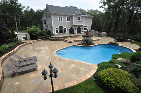 Gunite pool Patio & Coping