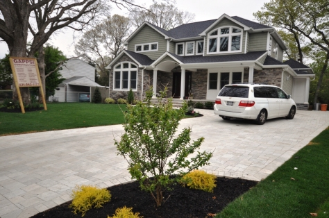 Completed Construction with Limestone Driveway and Landscape