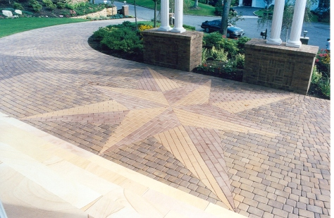 Paving Stone Compass star designs Gappsi Giuseppe Abbrancat