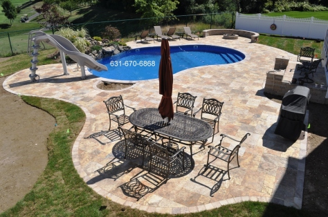 Scabbos Travertine pavers in Ronkonkoma, New York 11779