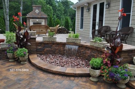 Sheer Descend Water Feature – Designer – Contractor – Long Island NY