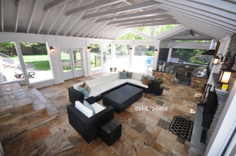 Travertine pavers flooring in Shelter Island, New York 11964