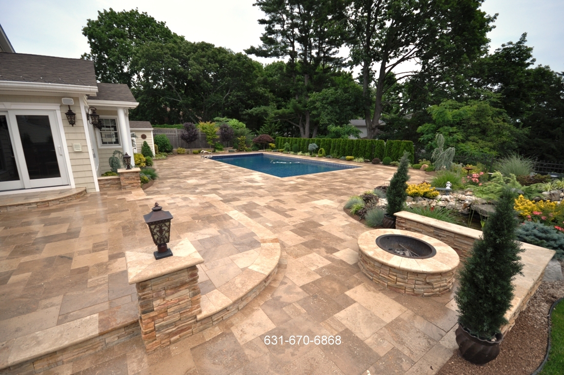 Travertine Pool Patio