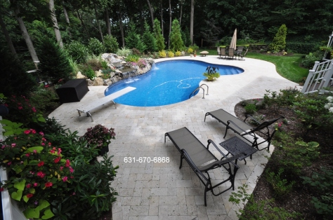 White travertine paving stones Long Island NY
