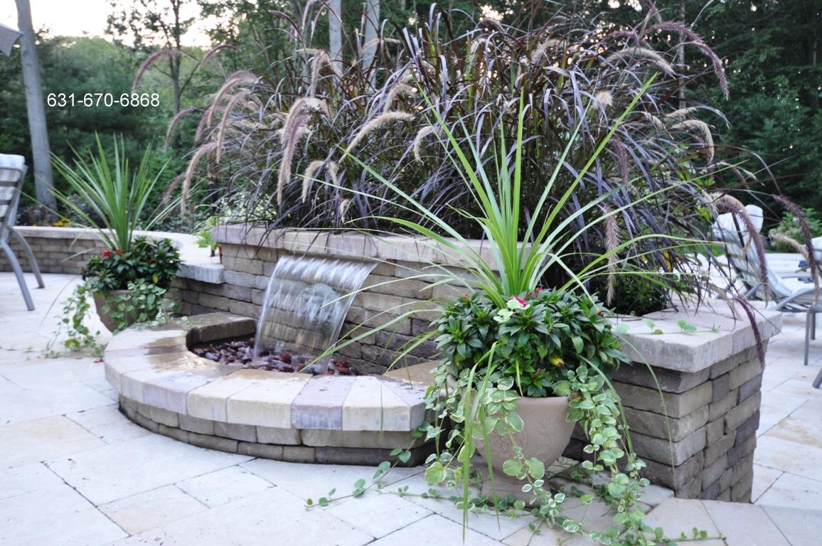 patio u2013 waterfall u2013 white travertine paving stones gappsi