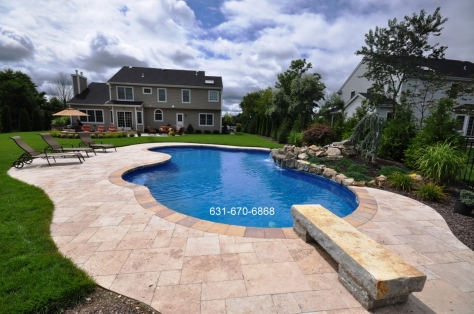 Paving stones pool patio contractor in Shinnecock Hills, New York 11968