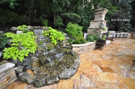 Backyard Natural Waterfall Designs