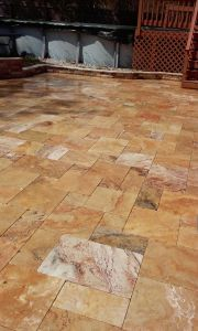 SEALED TRAVERTINE PAVERS BY GAPPSI