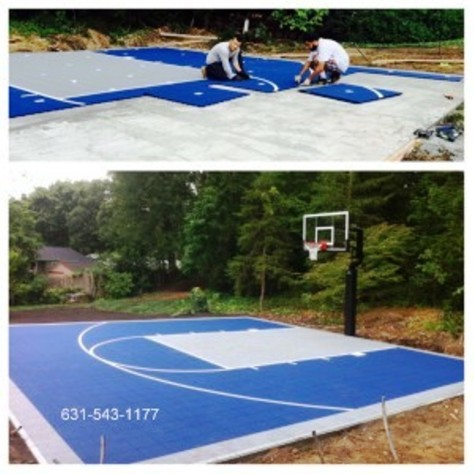 Versa basketball court built in setauket long island by for Built in basketball court