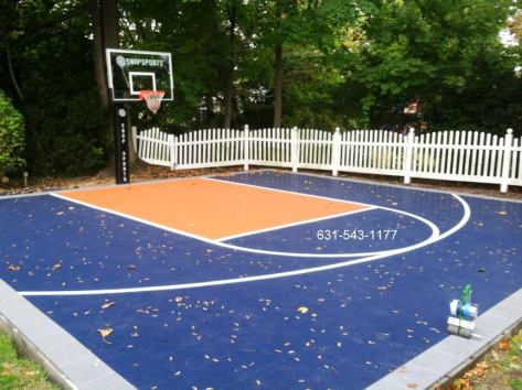 Snap-Sports Basketball Court in Hewlett Harbor by Gappsi