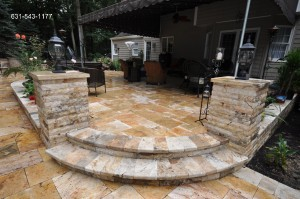 Melfi Limestone and Scogli Di Mare Patio by Gappsi