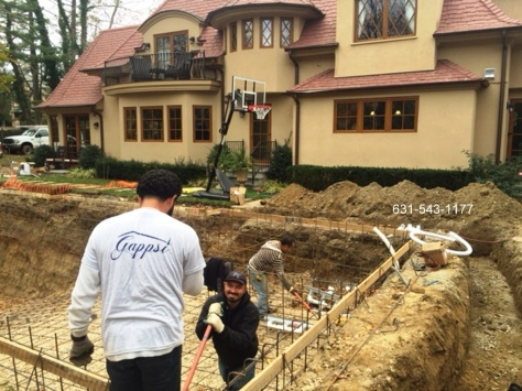 custom built gunite swimming pool huntington