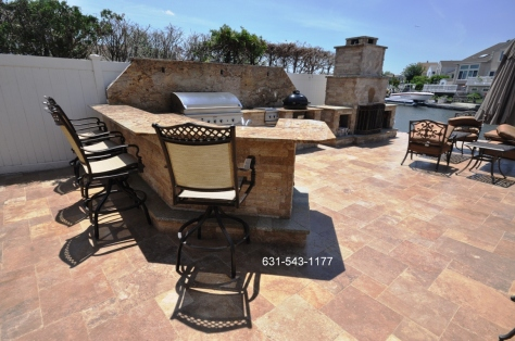 Backyard Travertine Patio Stones Supplier & Installer for Long Island NY.