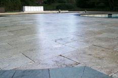 sealing and power washing natural stone and limestone pavers for outdoor home improvement