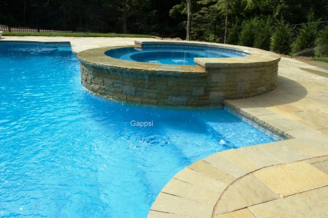 raised gunite spa design by gappsi
