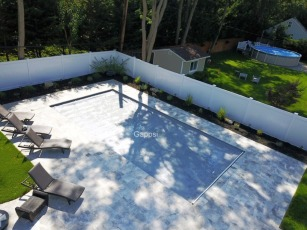 vinyl swimming pool with grey autocover by gappsi