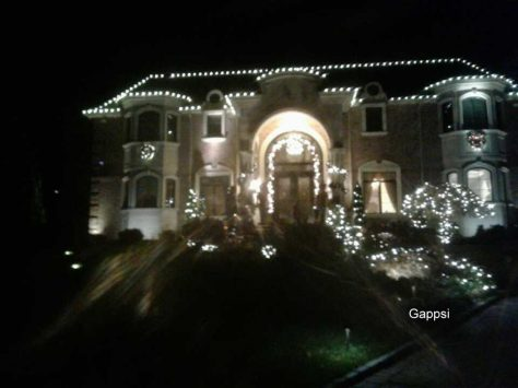 Holiday lighting supplied and installed by Gappsi in Great Neck NY.