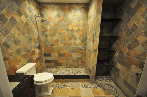 Slate Tile bathroom long island NY - Gappsi