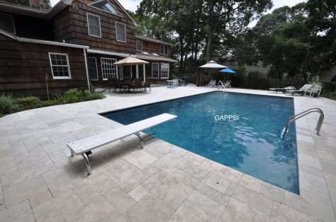gray marbledust finished gunite swimming pool oakdale ny