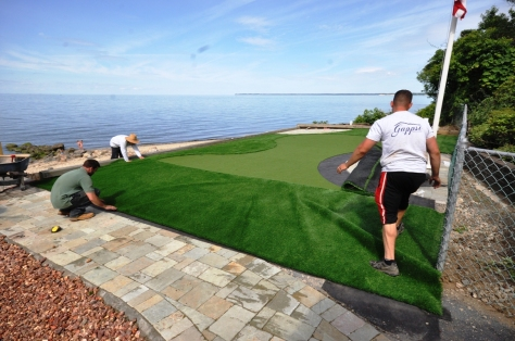 Synthetic Grass installation for putting green smithtown ny 11787 Gappsi