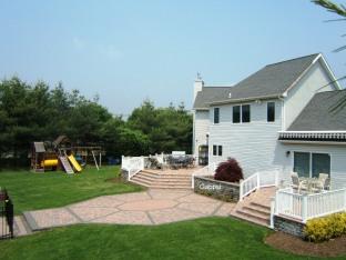 backyard paving stone patios designs , contractor , Gappsi