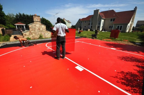 Basketball court built in Moriches NY by Gappsi with Snaps-Sports tiles.JPG